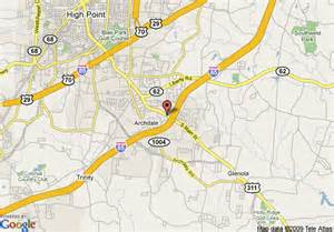map of comfort inn archdale high point