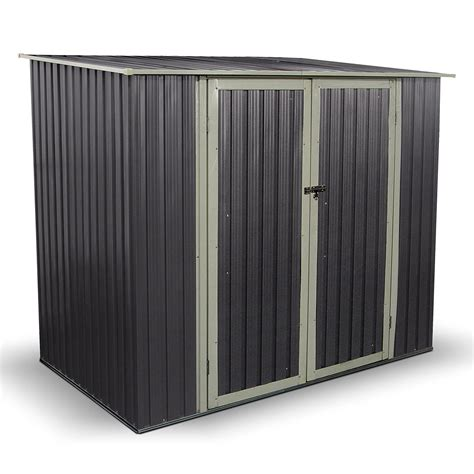 billyoh combo 7 x 5 warm grey pent metal shed www