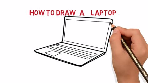 how to make doodle in computer laptop how to draw a laptop computer easy sketch drawing