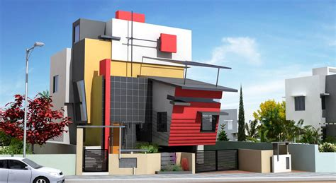 home design front elevation   Modern Home Exteriors