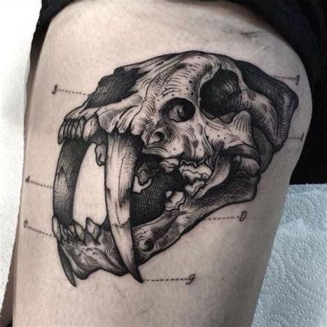 cat vandi tattoo foundation saber tooth tiger skull tattoo body art splendor