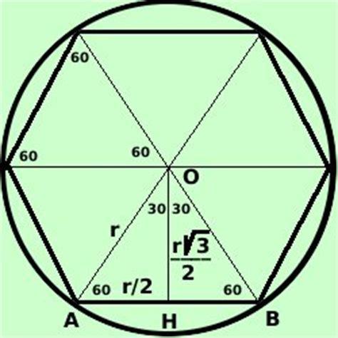 angoli interni esagono esagono regolare inscritto in una circonferenza