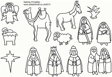 lds nativity coloring pages printable manger animals coloring pages coloring home