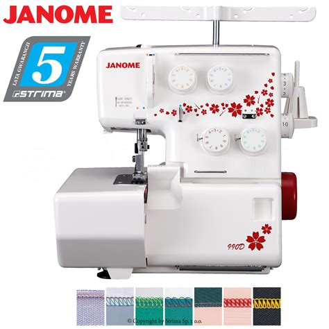 How To Do A Blind Stitch On A Sewing Machine 3 4 Threads Overlock Machine Sewing Machine Janome
