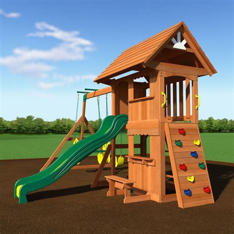alpine swing set alpine wooden swing set with assembly