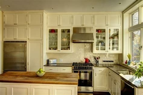 Cabinet Options by Stacking Kitchen Cabinets For More Height Tile Doors