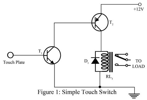 transistor to touch simple touch switch using two transistor best engineering projects