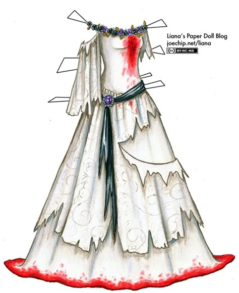 Paper Dolls With White Wedding Dresses by Wedding Gown Liana S Paper Dolls
