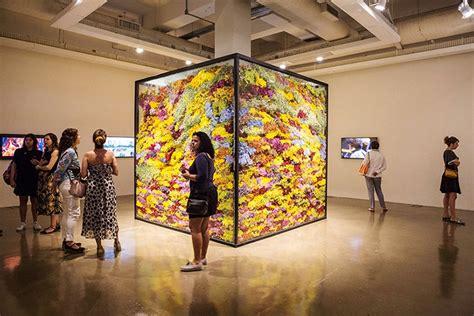 japanese flower artist composes  decomposes botanical
