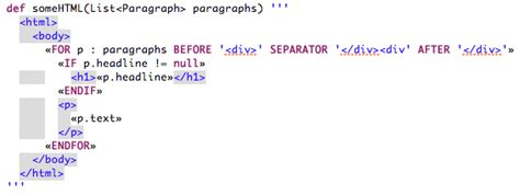 java string template xtend expressions