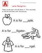 alphabet worksheets for letter recognition