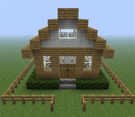easy homes to build small cottage home minecraft project