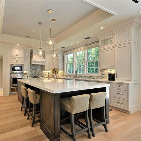 Kitchen Center Island With Seating Kitchens Endearing Big Kitchen Islands For Kitchen Island With Stove Kitchen Carts On Wheels