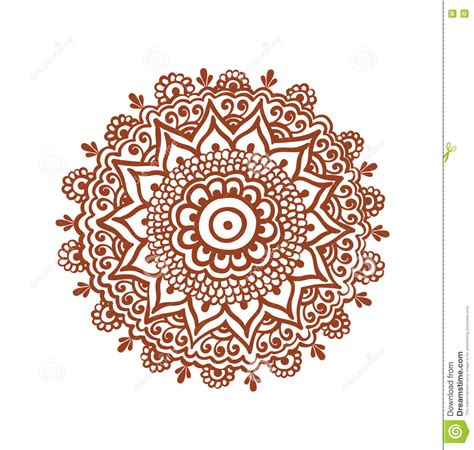 ornate circle mandala indian henna tattoo mehendi