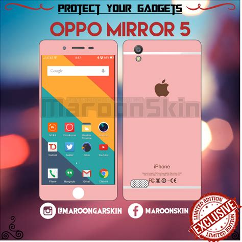 layout garskin iphone 5 jual garskin oppo mirror 5 iphone rose maroonskin