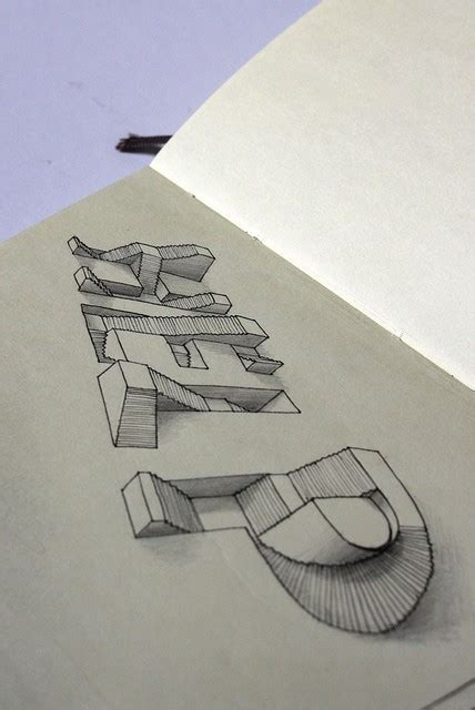 3 dimensional typography beautiful type really impressive 3d drawing by wilson