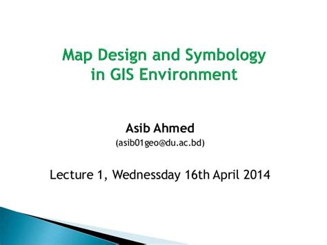 design for environment slideshare map design and symbology in gis environment