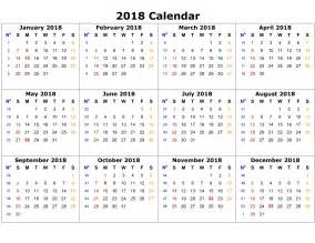 Calendar Template 2018 For Pages Calendar Template 2018 High Quality Loving Printable