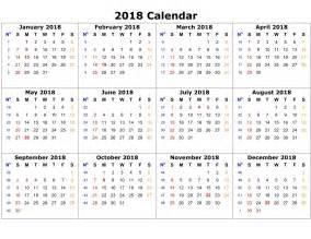 Calendar 2018 Printable Template Calendar Template 2018 High Quality Loving Printable