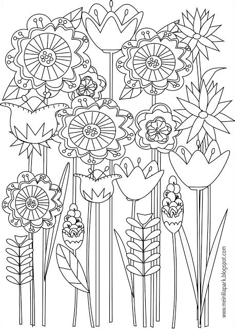 meadow flower coloring pages coloring pages