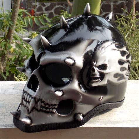 skull motocross helmet motorcycle helmet skull skeleton punk evil mohawk spikes
