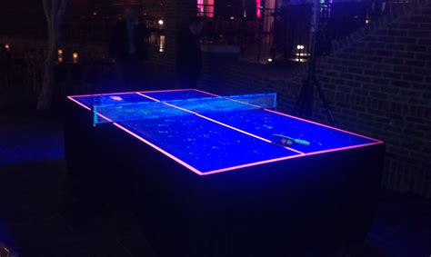Blacklight Pool Table by Blacklight Ping Pong Amusement Masters