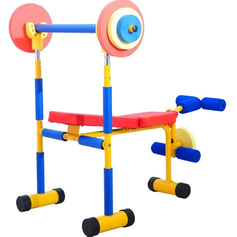 kids bench press set weight bench sets adidas workout bench barbell with