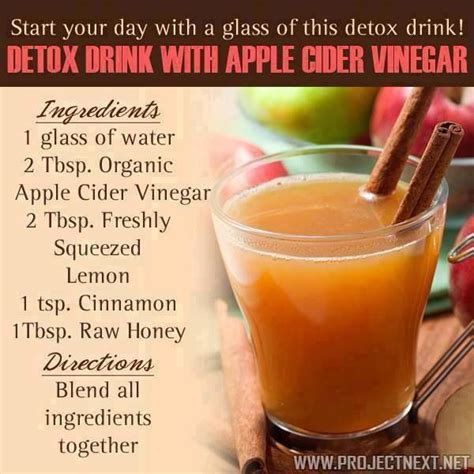 Detox After A Of by Apple Cider Vinegar With Lemon Cinnamon And Honey Detox