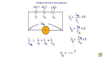 capacitor series voltage divider voltage divider rule in series capacitors