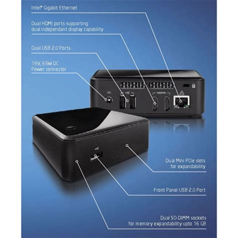 Intel Nuc 5cpyh Ssd 120gb Memory 2gb 1 intel dccp847dye nuc mini pc thebookpc