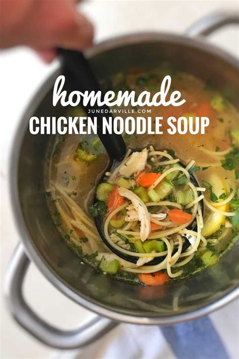 chicken noodle soup from scratch simple tasty good