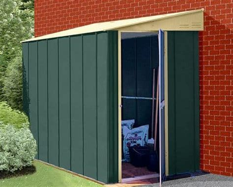 storemore canberra  pent lean  metal shed