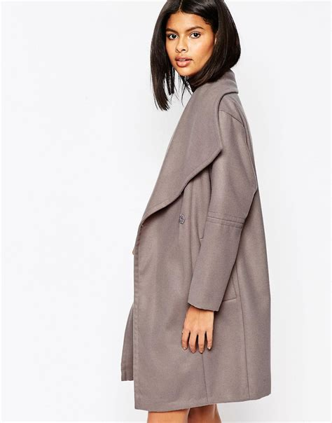 shoptagr asos oversized funnel neck coat by asos collection