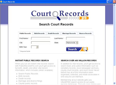 Free Court Records Search Court Records 1 2 0 Freeware