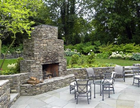 Outdoor Fieldstone Fireplace by Outdoor Fireplace Sag Harbor Ny Photo Gallery