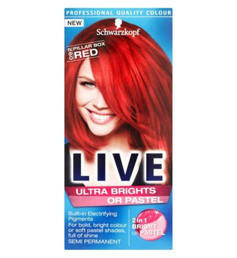 Red Hair Dye Box | pillar box red hair dye images