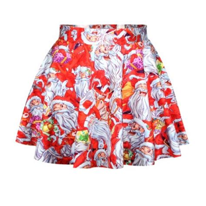 ecu christmas skirt skirts s pleated skirts print skirt saias on luulla