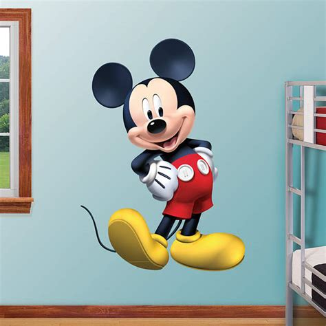mickey mouse wall stickers mickey mouse clubhouse fathead wall decal