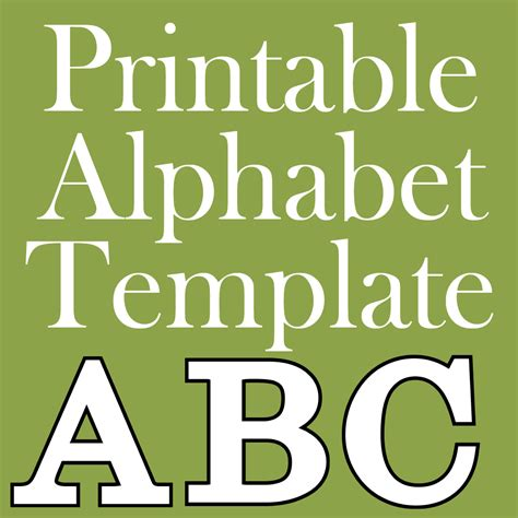 printable letters breaks