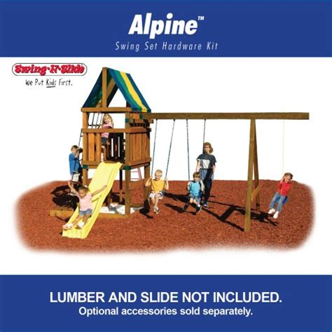 build a swing set kit alpine custom ready to build swing set kit outdoor