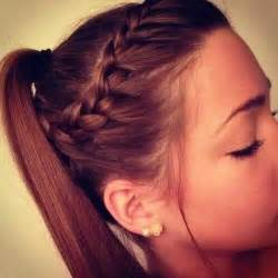 12 braid ponytail 15 easy updos that you can do in under 5 minutes
