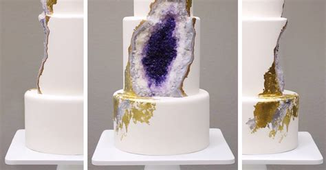 amethyst geode cake is a tasty mineral you can eat