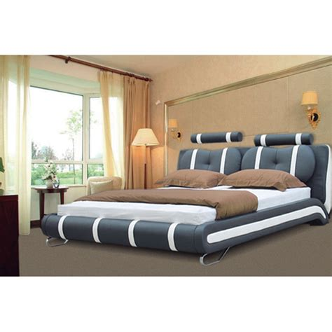Italian Bed Frames Modern Designer Italian Faux Leather Bed Frame Only 8369 Fur