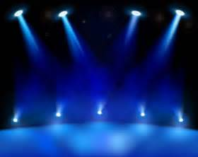 Banner Light Curtain Realistic Blue Stage Light Background Free Vector