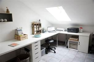 Office Desk U Shaped White Home Office Corner Table Setup With Ikea Linnmon