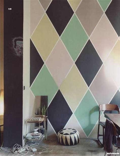 how to paint a diamond pattern on your wall maison d or painting patterns bold paint designs are easier than you