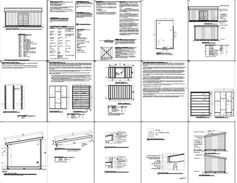 12 x 20 wood shed plans