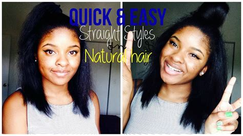 summer hairstyles for straight hairstyles for natural hair quick hairstyles for natural straight hair hairstyles