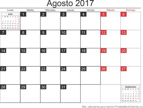 printable calendar agenda 2017 agosto 2017 calendario para imprimir calendarios para