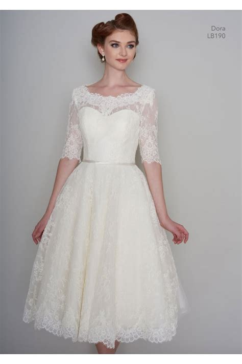 Vintage Wedding Dress 2 by Lb190 Tea Length Vintage Lace 1950s 60s Wedding